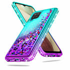 For Samsung Galaxy A12,A02s,A32/A42 5G Bling Case Shockproof Liquid Hybrid Cover