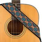 guitar strap jacquard weave with leather ends