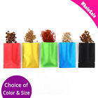 Assorted Colors & Sizes Thick Rice Paper Foil Mylar Open Top Pouch Bag M23
