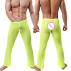 Breathable Men's Mesh See Through Home Lounge Pajamas Pants Underwear US STOCK