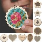 Wooden Cross Stitch Key Ring Making Jewelry Pendant Embroidery Sewing Wood
