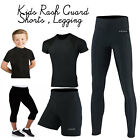 Внешний вид - Kids MMA Shorts Rash Guard Legging Sports Home Gym Exercise Martial Arts Tops