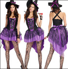 Внешний вид - Hot Halloween Witch Purple Tuxedo Women Costume Adult Cosplay Party Fancy Dress