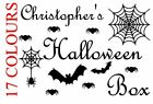 Personalised Halloween Box Trick Or Treat Decal Vinyl Sticker Craft Wall Window