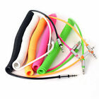 3.5mm Male AUX to Male Coiled Stereo Audio Car Auxiliary Cable Cord for PC Phone