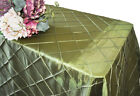 "Wedding Linens Inc. 90"" x 132"" Pintuck Taffeta Rectangular Table Tablecloth"