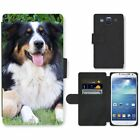 Phone Card Slot PU Leather Wallet Case For Samsung Australian Shepherd dog toy