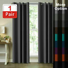 2x Blockout Curtains Blackout Window Curtain Draperies Pair Eyelet For Bedroom