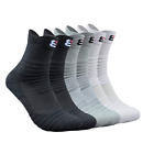 5 Pairs Men's Compression Socks Sports Athletic Combed Cotto