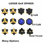 Golf Shoe Spikes 14pc Cleats Fast Replacement Twist Tri-Lok Metal Thread Types