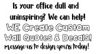 Office Wall Quotes Custom Vinyl Lettering Personalized Stick
