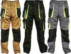 Mens Work Trouser Worker Wear Cargo Combat Knee pad Pockets Working Pants