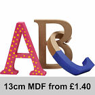 Mdf Wood Wooden Letters Numbers Free Standing 13cm High 2cm Deep