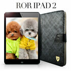COFFEE / BLACK Leather Smart Case Cover Protector Table Stand For iPad 2 / 3 / 4