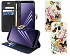 Samsung Galaxy A8 2018 PU Leather Colourful Designer Wallet Flip floral + S Pen