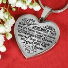 Heart Pendant for Daughter, Kids - Necklace from Dad - Always Remember Quotes