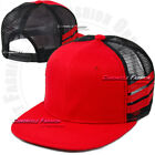 Trucker Mesh Hat Baseball Cap Snapback Plain Flat Hip Hop Adjustable Hats Mens