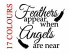 Feathers Appear When Angels Are Near Vinyl Decal Sticker Bauble Christmas Glass