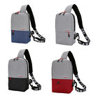 US Chest Pack Messenger Sling Shoulder BagS Casual Travel Crossbody USB Charging