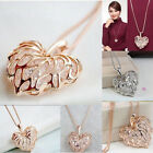 Ladies Hollow Heart Bib Statement Long Sweater Chain Necklace Jewelry Alluring