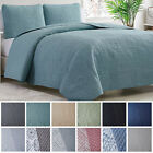 Mellanni Bedspread Coverlet Set 3-Piece Oversized Bed Cover, Ultrasonic Quilt image