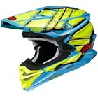 NEW Shoei MX VFX-WR Glaive Flo Green Blue M.E.D.S Dirt Bike Motocross Helmet