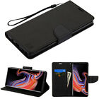 For Samsung GALAXY Note 9 Leather Folio Flip Wallet Phone Case Cover Stand Pouch