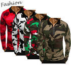 US Camouflage Men Fit Slim Camo Long Sleeve T-Shirt Casual Shirt Tops Basic Tees