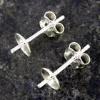 925 Sterling Silver Bowl Stud Earring Posts Findings Jewellery Making Craft Se5