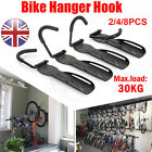4x Steel Bike Bicycle Storage Wall Mounted Mount Hook Rack Holder Hanger Stand G