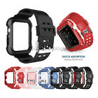 Heavy Duty Tough Armor Case Cover  Watch Strap For Apple Watch Band Series 3/2/1 image