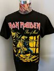 BRAND NEW IRON MAIDEN PIECE OF MIND STRAIGHT JACKET EDDIE CHAINS BLACK T SHIRT