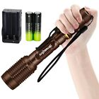 Flashlight Tatical 12000LM 5Mode T6 LED Zoomable Torch Lamp Battery Charger Camp