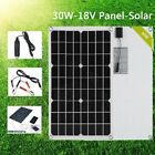 18V 30W Solar Panel Stretchable Monocrystalline Battery Charger RV Home Boat Lot US