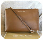 NWT MICHAEL KORS JET SET TRAVEL DOUBLE GUSSET CROSSBODY BAG IN VARIOUS