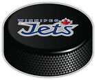 Winnipeg Jets Slogan NHL Logo Hockey Puck Car Bumper Sticker Decal-3'',5''or 6'' $3.5 USD on eBay