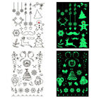 Luminous Tattoo Glow In The Dark Glitter Christmas Flash Fluorescent Stickers