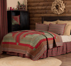 GATLINBURG QUILT SET-choose size & accessories-Log Cabin Block Red VHC Brands image