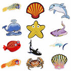 Sea World Ocean Animals Embroidered Fabric Patches Iron on C