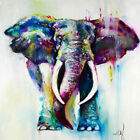 Animal Elephant Oil Painting Painted Abstract Wall Art Print Picture Not Framed