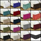 "Bed Skirt Dust Ruffle 14"" Wrap Around Box Spring Bedding KING QUEEN FULL TWIN"
