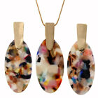 Long Pendant Necklace With Bold Yet Delicate Oval Drop Earrings Hot Jewelry Sets