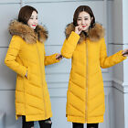 Women's cotton padded windproof hoodie slim fit quilted winter coat jacket