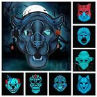 Sound Reactive LED Light Up Activated Halloween Mask Dance Rave EDM Plur Party