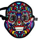 Halloween Sound Reactive LED Light Up Flashing Activated Mask Dance Club Party