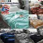 US Super Soft Warm Solid Warm Micro Plush Fleece Blanket Throw Rug Sofa Bedding image