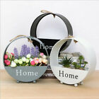 Wall Hanging Wrought Iron Storage Flower Basket Living Room