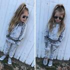 2pcs/Set Toddler Kid Baby Girl Infant Clothes T-shirt Top Pants Outfit Tracksuit