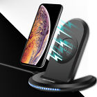 For iPhone XS Max XR X Qi Wireless Fast Charger Stand Pad Case Screen Protector