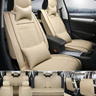 US 100 PU Leather Car Seat Cover 5 Seat SUV Cushions Front  Rear Set WPillows